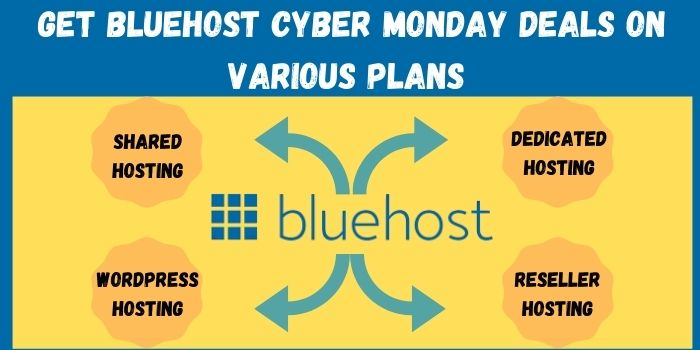Grab Bluehost Cyber Monday Deals on various plans